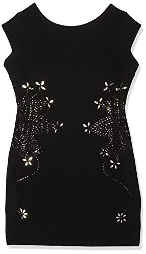 Desigual Damen Kleid VEST_3/4 Freya, Schwarz (Black 2000), Gr. M (Herstellergröße:L)