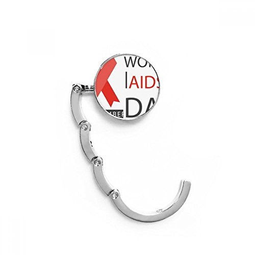DIYthinker Primero VIH Día Tabla Cinta Roja Mundial del SIDA diciembre Gancho...