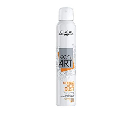 L\'Oréal Professionnel Paris Tecni.ART Morning After Dust, Trockenshampoo ohne Rückstände, für langanhaltend frisches Haar, reinigt fettiges Haar, Haarpflege-Produkt ohne Alkohol, 200 ml