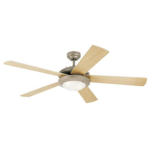 Westinghouse Lighting 7801665 Comet 52-Inch Matte Black Indoor Ceiling Fan,...
