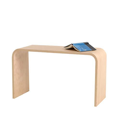 Tojo Sit | Hocker | Ablage | Beistelltisch |Buche Schichtholz unbehandelt | 70 x 30 x 40 cm (L x B x H) Vielseitig einsetzbare Sitzgelegenheit | Holzhocker | Designer Möbel für Haus und Büro