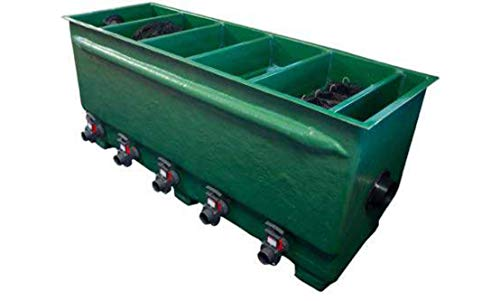 Tripond Reihenfilter Komplettpaket inkl. Deckel & Füllpaket Die Neue Generation/Teichfilter/GFK-Teichfilter für bis zu 100 m³ Teichvolumen (Jumbo 3-Kammer)