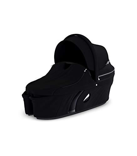 STOKKE® Xplory® Babyschale - Kinderwagenaufsatz mit fester&schützender Außenschale - atmungsaktive Matratze aus Sorona - erweiterbares & belüftbares Verdeck mit Blendschutz - Farbe: Black