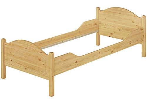 Erst-Holz® Massivholz-Bett Kiefer Einzelbett Natur 100x200 Bettgestell ohne Lattenrost 60.30-10oR