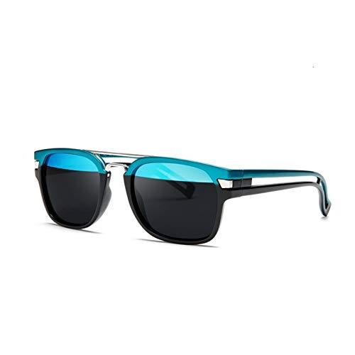 PrittUHU 2019 nuevos Hombres Gafas de Sol Hombres Mujeres Gafas de Moda Deportes conduciendo Gafas de Sol para Hombre Sombras Masculino (Lenses Color : 01 Blue Black)