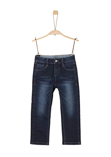 s.Oliver Jungen Regular Fit: Straight leg-Denim dark blue stretche 110.SLIM,110 (Herstellergröße: 110/SLIM)