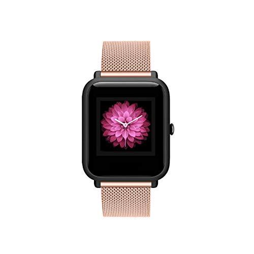 Cinturino di Ricambio per ID205 ID205L ID205S ID205U ID205G Smartwatch Activity Tracker Cinturino per Orologio Fitness Tracker Contapassi (Stainless Steel-Rose Golden)