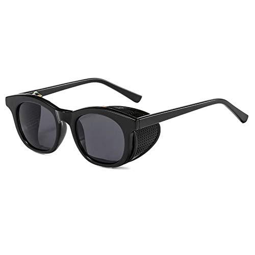 ZZOW Gafas De Sol Redondas Vintage con Lentes Separables para Mujer, Gafas De Sol Steampunk Transparentes para Hombre, Gafas De Sol para Exteriores, Gafas Uv400