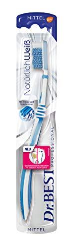 Dr.Best Best Natürlich Weiß Zahnbürste, Mittel, entfernt Verfärbung und hilft so, das natürliche Weiß der Zähne wiederherzustellen, 1 Stk.