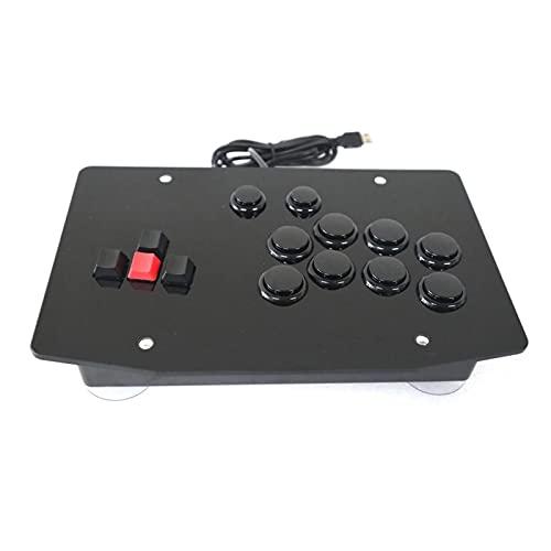 Pingping RAC-J500K. Tastatur Arcade Mixbox Style Fight Stick Game Controller Joystick für PC USB. ZhuZhuBao (Color : Black)