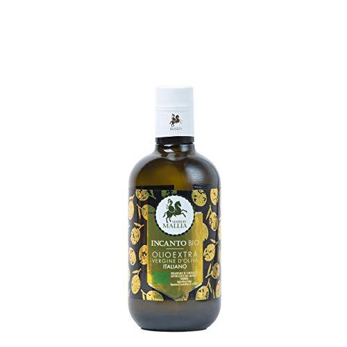 Oleificio Mallia - Olio extravergine di oliva italiano BIOLOGICO Bottiglia da 0,50 litri - Olio Evo Bio Raccolto 2020-2021 - Olio di oliva fruttato gusto DELICATO