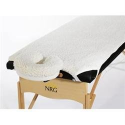 Fleece Massage Table Pads and Face Rest Cradle Cover Set by NRG - Hypoallergenic Synthetic Fleece Fibers - Perfect for Anyone with Wool Allergies - 29