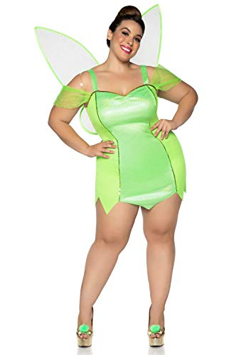Leg Avenue Women s Plus Size Pretty Pixie Fairy Costume, Green, 3X-4X