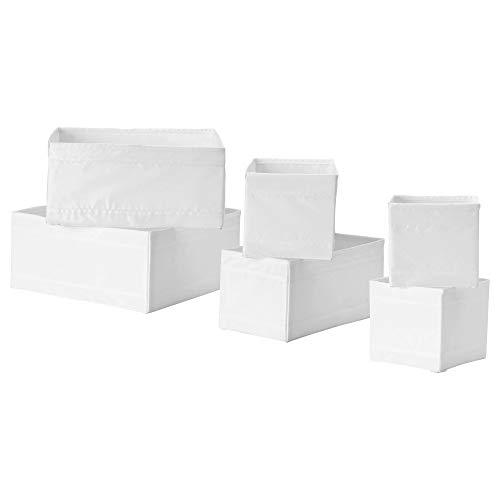 IKEA(イケア) SKUBB ホワイト 80192632 ボックス6点セット、ホワイト