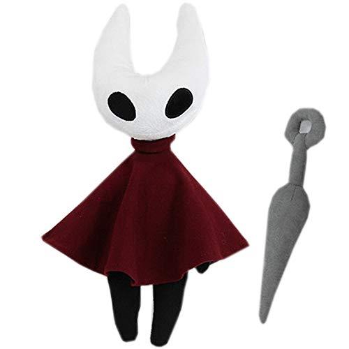 LoneFox Hollow Knight: Silksong Figura de Felpa Juguete muñeca de Peluche Suave 30 cm