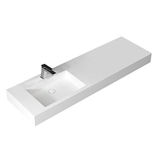 STONEART Waschbecken LP4516L weiß/160x48cm/glänzend