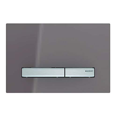 Geberit Betätigungsplatte Sigma 50 (für 2-Mengen Spülungen, Betätigung von vorne, Farbe Glas umbra) 115788SQ2