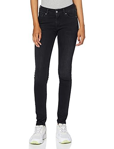 Kings of Indigo Damen Christina Skinny Jeans, Schwarz (Black Rinse 6102), (Herstellergröße:28/30)
