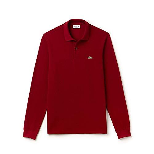 Lacoste Herren Poloshirt, Rot (Bordeaux), L (Herstellergröße: 5)