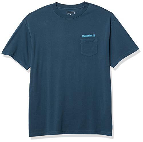 Quiksilver Lost Fire - Camiseta de manga corta para hombre -  Azul -  XX-Large