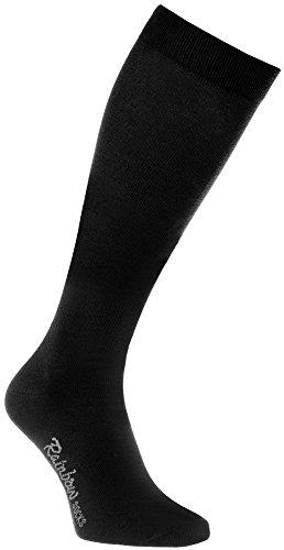Rainbow Socks - Damen Herren Bunte Baumwolle Kniestrümpfe - 1 Par - Schwarz - Größen 39-41