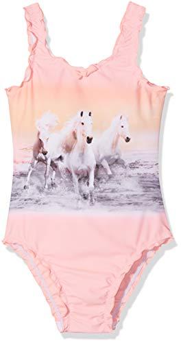 Sanetta Mädchen Swimsuit Badeanzug, Rosa (Pink Neon 38064), 104