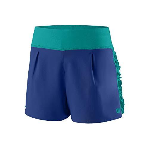 Wilson Niña Shorts, Core 2.5 Short, Poliéster, Azul (Mazarine Blue), Talla L, WRA783604LG