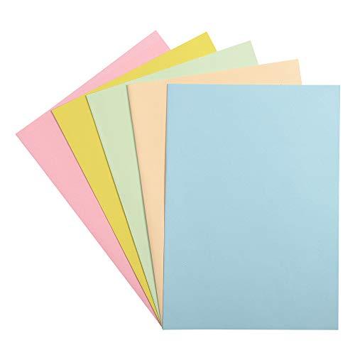 Exacompta 405000E Paquet de 250 Sous-Chemises FOREVER 60, Carte Recyclée Format 22x31 cm 60g/m² pour Format A4, Couleurs Assorties ( bleu clair bulle jaune rose et vert pré)