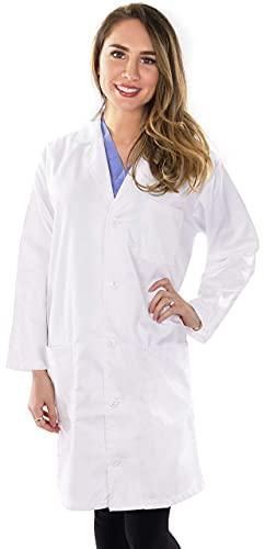 Utopia Wear Professional Lab Coat Women - Laboratory Coat (White, Medium)