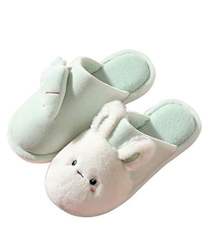 Unisex Pantofole Casa Inverno, Coniglio Scarpe Carino di Cotone Interne, Calde Leggere Morbide Comode e Antiscivolo per Uomo e Donna Adulto 35/36