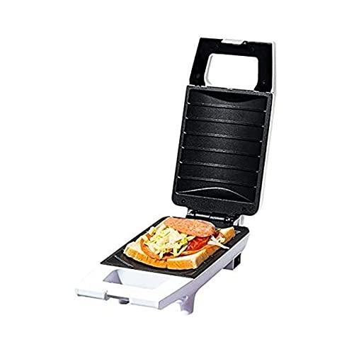 KISAD Máquina de Desayuno Multifuncional 420W Mini Máquina de sándwich Cocina Desayuno Pan Maker Curved Superficie Tostadora Freír Huevo Maker