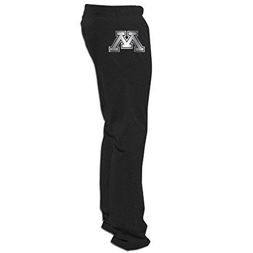Minnesota Golden Gophers Platinum Logo Men's Sweatpants Black