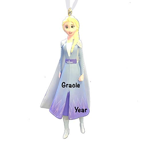 Elsa Frozen Ice Princess Personalized Christmas Ornaments for Kids – Charming 2020 Christmas Ornament for Disney Christmas Tree – Disney Christmas Decorations - Collectible Disney Ornaments