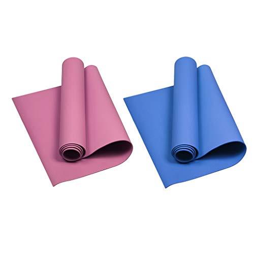 HomeDecTime 2er/Set Gymnastikmatte rutschfest, Yogamatte, Yoga Pilates Matte, schadstofffrei und rutschfest, 173 x 60cm, 4mm Eva