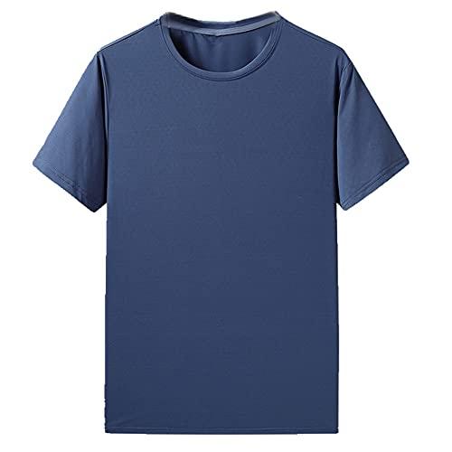 Verano hielo hombres camiseta grande suelta deportes camiseta hielo transpirable verano deportes al aire libre correr traje