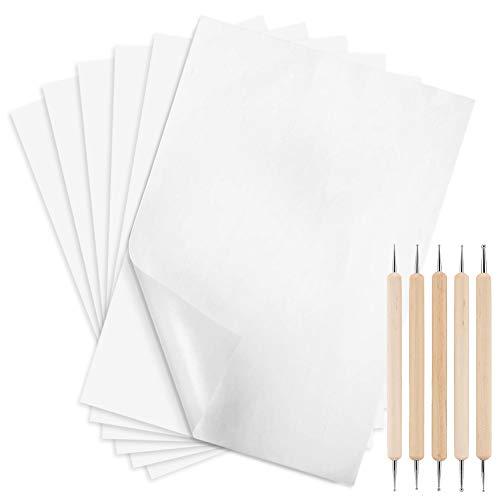 Transferpapier mit Prägestift für Transfermuster auf Holz, Papier, Leinwand, Weiß, 29,7 x 21,1 cm, 100 Blatt
