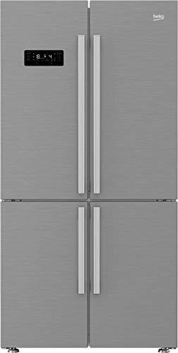 Beko GN1416231JX Independiente 530L A++ Acero inoxidable nevera puerta lado a lado - Frigorífico side-by-side (Independiente, Acero inoxidable, Puerta francesa, LED, LCD, Vidrio)