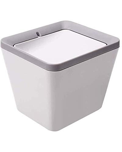 WXX Desktop-Shake Deckel Trash Can Square Kunststoff Deodorant Abfalleimer Abnehmbare Haushalt Büro Trash Vorratsbehälter leicht zu reinigen