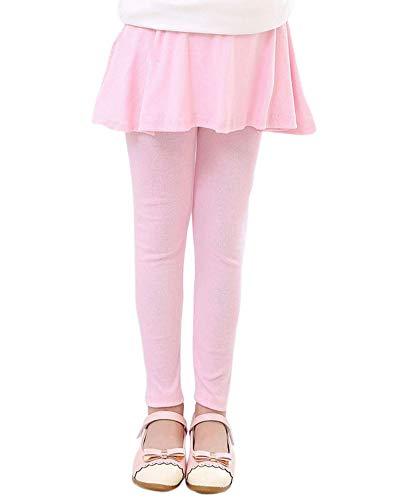 Niña Leggins Leggings Pantalones De Lápiz con Falda De Niñas Falda Guapa De Ballet Pink 130