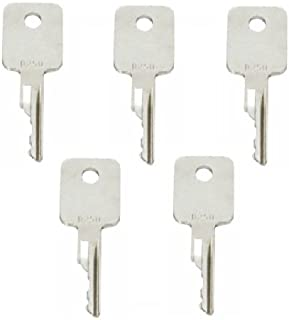 5 keys Ignition key for Bobcat, Terex, Broce, Ditch-Witch, Genie, Grove, Ingersoll-Rand, JLG, Pollock, Tenant, Timberjack, Vermeer, Volvo D250 …