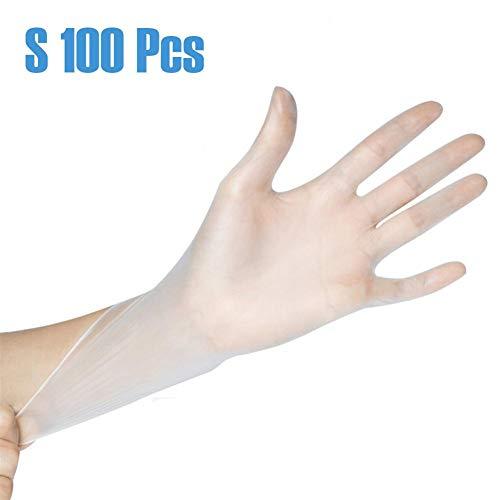 HAIRLL 100stks Wegwerp Handschoenen Transparant Kunststof Voedsel Prep Safe Handschoenen voor Koken Keuken BBQ Reiniging