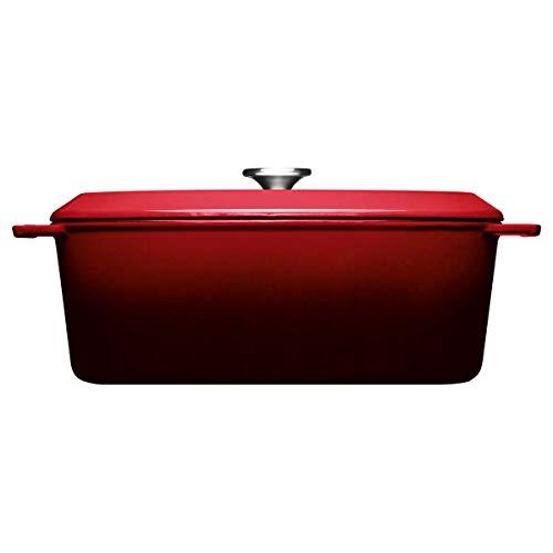 Woll Iron Gussbräter mit Deckel, oval, 34 x 26 cm, 12,5 cm hoch, 7,5 Liter inkl. Schutzgriffe verschiedene Farben