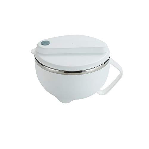 JEONSWOD Tazón de Sopa de arroz de Fideos de Acero Inoxidable portátil con asa de Tapa Fiambrera de contenedor de Comida (Color : A)