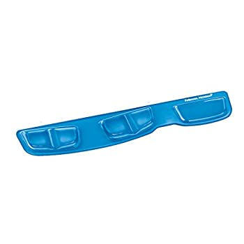 Fellowes Keyboard Palm Support with Microban Protection Blue  9183101