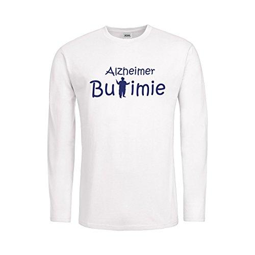 MDMA Kids T-Shirt Longsleeve Alzheimer Bulimie N14-mdma-ktls00351-237 Textil white / Motiv violett Gr. 128