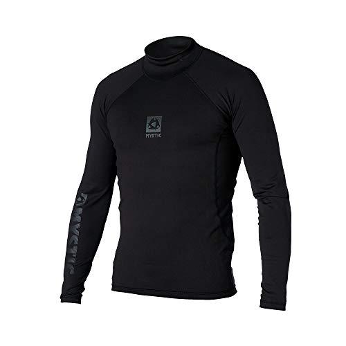 Mystic Herren LS Langarm Bipoly Thermo Weste Top Schwarz - Leicht - 88% Polyester, 12% Spandex