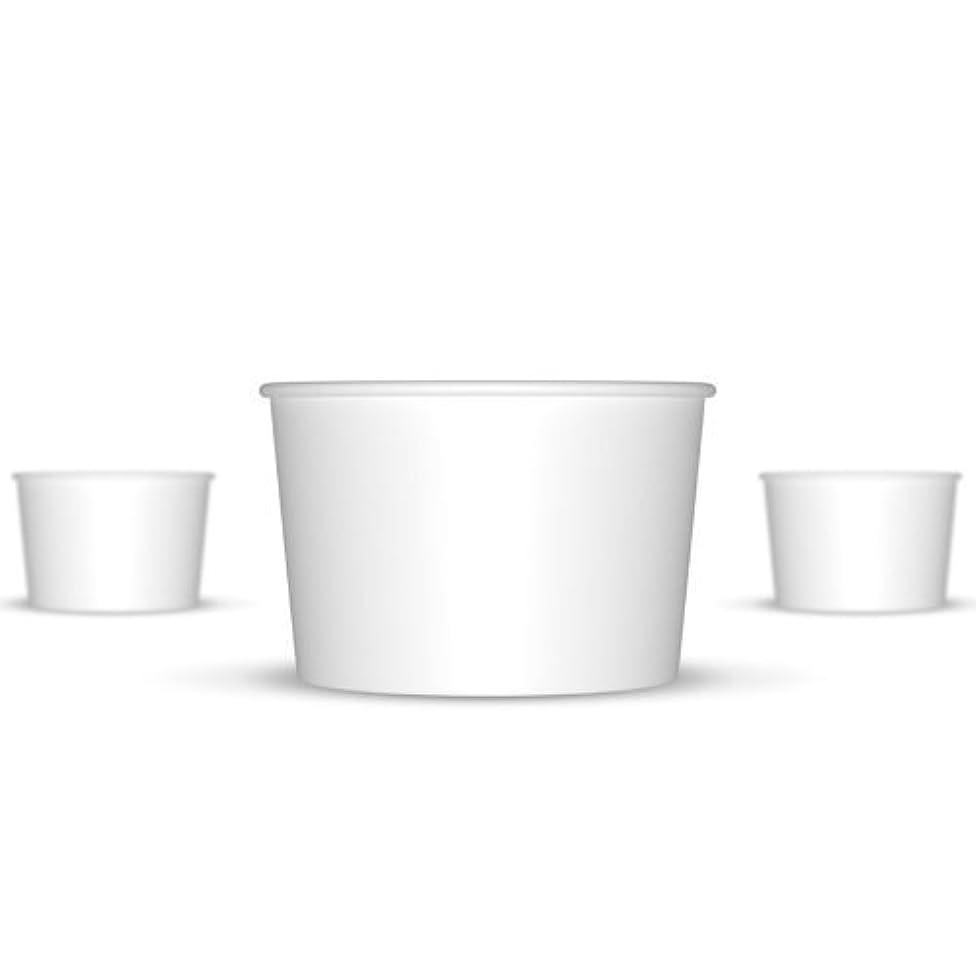 4 oz Paper Ice Cream Cups - 1,000 / Case (White)