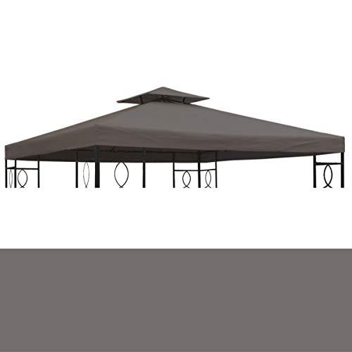 bonsport Pavillon Ersatzdach 3x3 m wasserdicht - Dach Ersatzbezug mit Kaminabzug, anthrazit