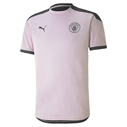 PUMA MCFC Training Jersey Camiseta, Hombre, Lilac Snow/Asphalt, M