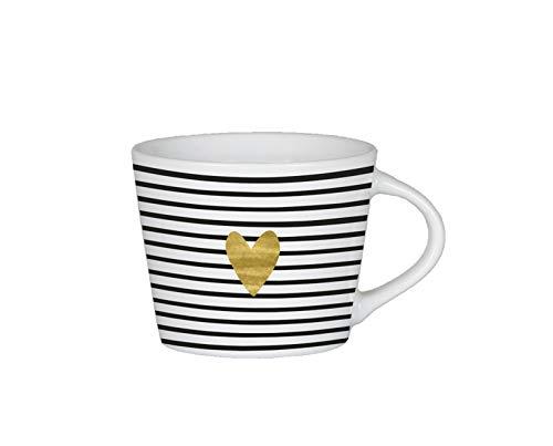 Grafik-Werkstatt Premium-Tasse, Herz, Espresso Tasse, Goldveredlung